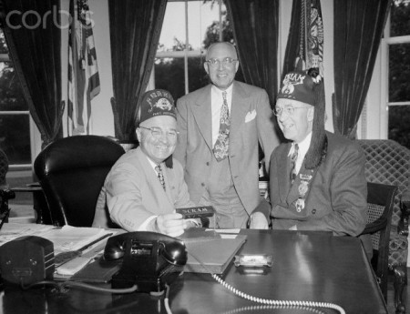 President Truman and Shriners in Oval Office
